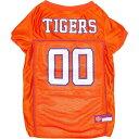 NCAA ペットグッズ 犬用品 ウェア 【Pets First Clemson Tigers Mesh Jersey - L】