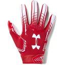 アンダーアーマー Under Armour ユニセックス アメリカンフットボール グローブ【F6 Adult Receiver Football Gloves】Red/White