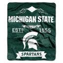 ノースウエスト Northwest ユニセックス マフラー・スカーフ・ストール【Michigan State Spartans Label Raschel Throw】