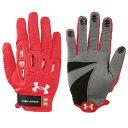 アンダーアーマー Under Armour レディース ラクロス グローブ【Player 2 Lacrosse Gloves】Red