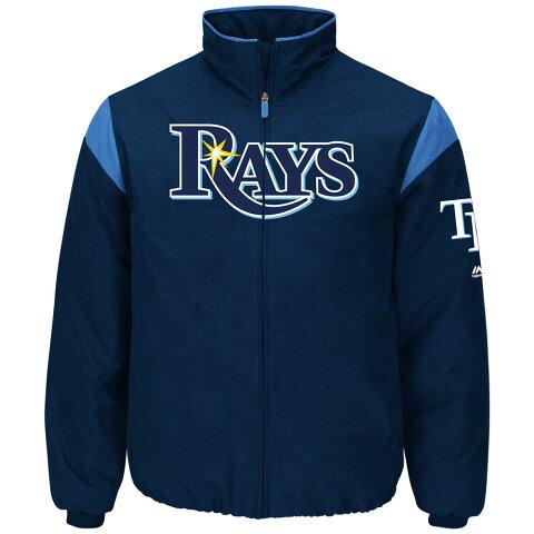 マジェスティック Majestic メンズ アウター ジャケット【Tampa Bay Rays Adult Authentic Collection On-Field Therma Base Thermal Full-Zip Jacket】Navy