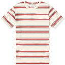 ショッピングアルバム アルバム Albam メンズ Tシャツ トップス【Heritage Stripe Tee】Red/Tan/Navy
