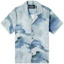 ショッピング半袖シャツ リースクーパー Reese Cooper メンズ 半袖シャツ トップス【Water Colour Camo Vacation Shirt】Multi