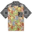 ショッピングアロハシャツ ソフネット SOPHNET. メンズ 半袖シャツ トップス【pattern mix aloha shirt】Khaki