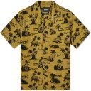ショッピング半袖シャツ ペンフィールド Penfield メンズ 半袖シャツ トップス【palm print vacation shirt】Fir Green