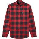 ショッピングフレッドペリー フレッドペリー Fred Perry Authentic メンズ シャツ トップス【Bold Tartan Shirt】Deep Red