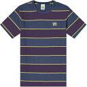 Hikerdelic メンズ Tシャツ トップス【wide stripe tee】Navy/Purple