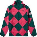 ローイング ブレザーズ Rowing Blazers メンズ フリース トップス【harlequin fleece jacket】Pink/Green