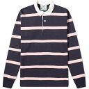 ローイング ブレザーズ Rowing Blazers メンズ ポロシャツ トップス【hockney heavyweight stripe rugby shirt】Navy/Pink