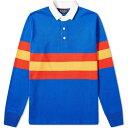 ローイング ブレザーズ Rowing Blazers メンズ ポロシャツ トップス【stripe rugby shirt】Blue/Red/Gold