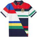 ショッピングsailing ラルフ ローレン Polo Ralph Lauren メンズ ポロシャツ トップス【diagonal sailing crest polo】Cruise Navy/Multi