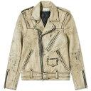 ジョン エリオット John Elliott メンズ ジャケット アウター【x blackmeans riders jacket】Black/Ivory Paint