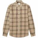 ショッピングダウン アドサム Adsum メンズ シャツ トップス【Button Down Premium Loose Weave Shirt】Brown/Beige
