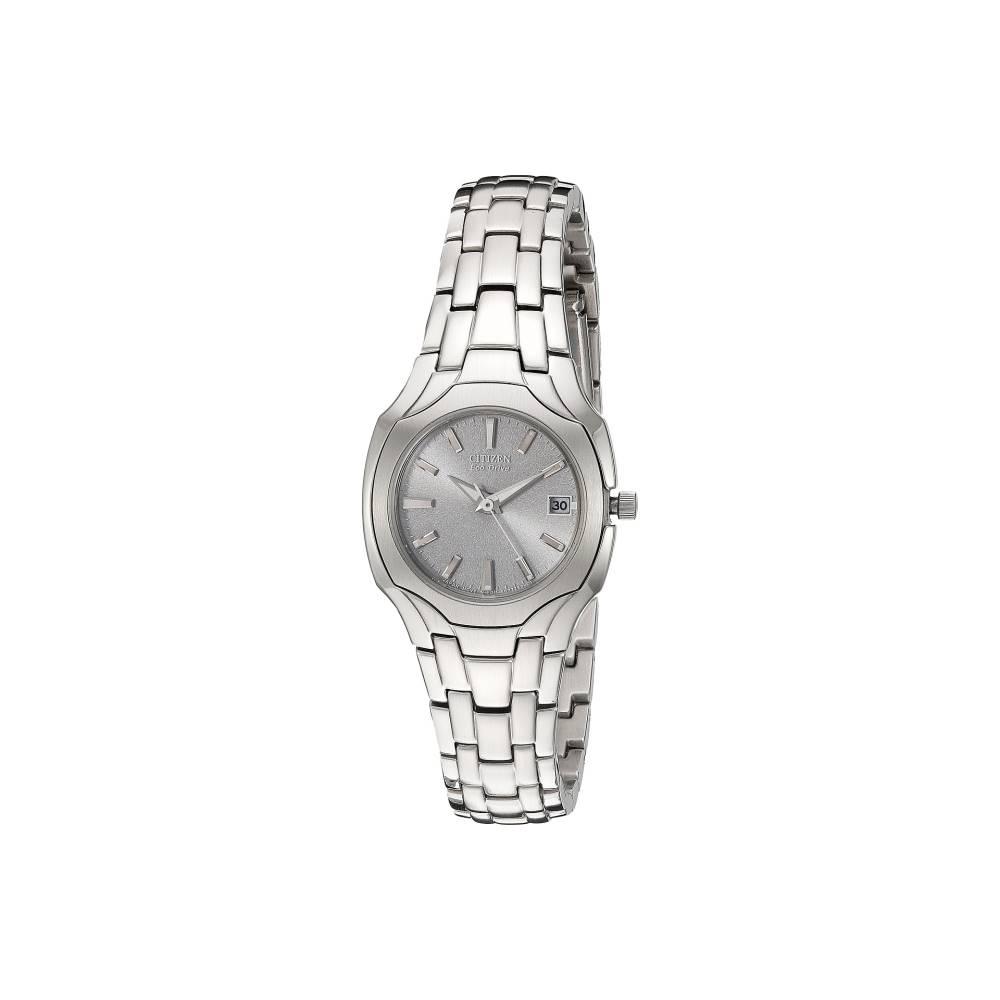 シチズン Citizen Watches レディース アクセサリー 腕時計【EW1250-54A Eco-Drive Stainless Steel Watch】Stainless Steel/Silver シチズン レディース アクセサリー 腕時計 【サイズ交換無料】