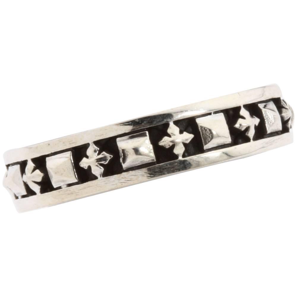 キングベイビー King Baby Studio レディース アクセサリー 指輪【Stackable Studded Ring with MB Crosses】Sterling Silver キングベイビー レディース アクセサリー 指輪 【サイズ交換無料】