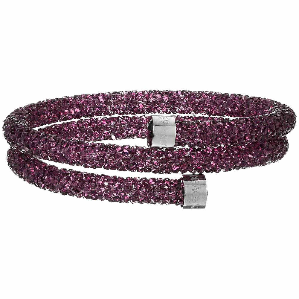 スワロフスキー オンライン Swarovski レディース アクセサリー ブレスレット【Crystaldust Heart Double Bangle Bracelet】Purple:フェルマート スワロフスキー レディース アクセサリー ブレスレット【サイズ交換無料】