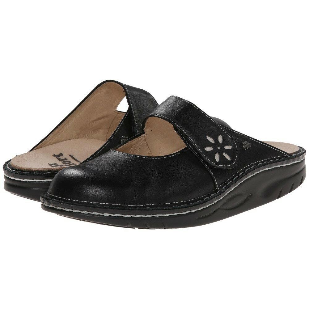 フィンコンフォート レディース シューズ・靴 サンダル・ミュール【Side - 1567】Black/Silver フィンコンフォート レディース シューズ・靴 サンダル・ミュール Black/Silver 【サイズ交換無料】
