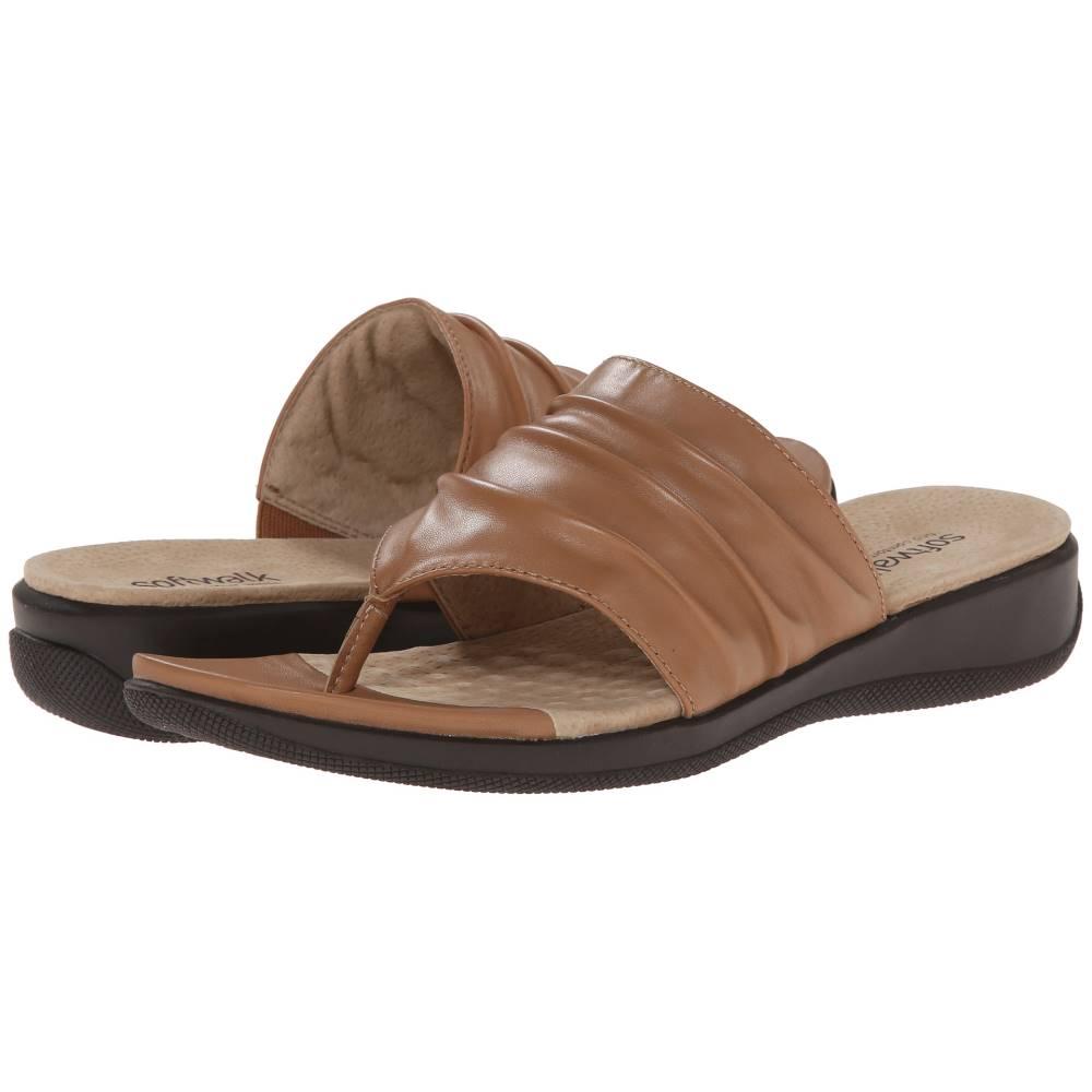 ソフトウォーク レディース シューズ・靴 サンダル・ミュール【Toma】Tan Soft Nappa Leather ソフトウォーク レディース シューズ・靴 サンダル・ミュール Tan Soft Nappa Leather 【サイズ交換無料】【可愛い】