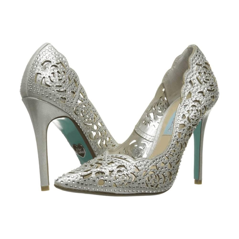 ベッツィ ジョンソン レディース シューズ・靴 ヒール【Elsa】Silver Fabric ベッツィ ジョンソン レディース シューズ・靴 ヒール Silver Fabric 【サイズ交換無料】