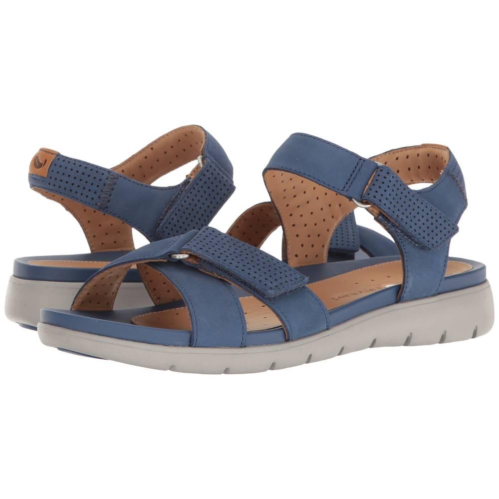 クラークス レディース シューズ・靴 サンダル・ミュール【Un Saffron】Dark Blue Nubuck クラークス レディース シューズ・靴 サンダル・ミュール Dark Blue Nubuck 【サイズ交換無料】