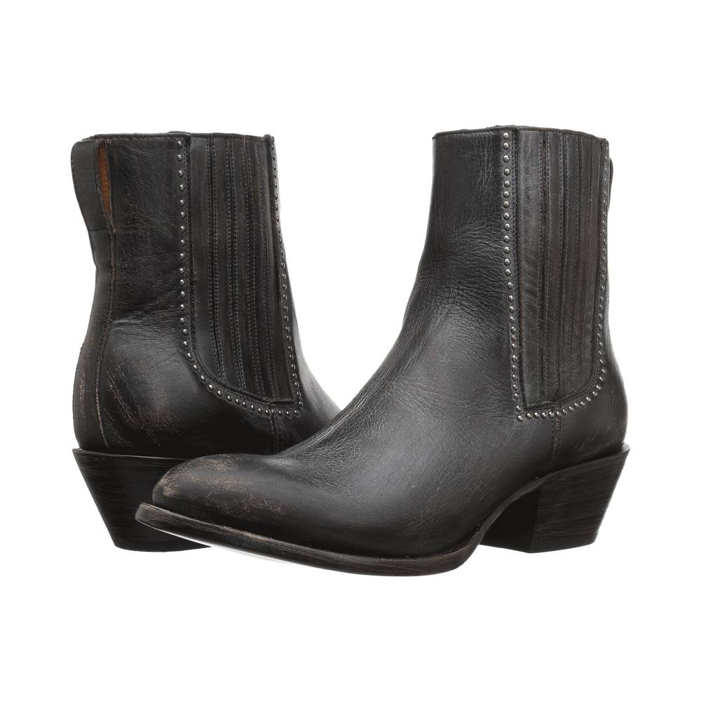 ルケーシー レディース シューズ・靴 ブーツ【Adele】Black Distressed Leather ルケーシー レディース シューズ・靴 ブーツ Black Distressed Leather 【サイズ交換無料】丈夫な