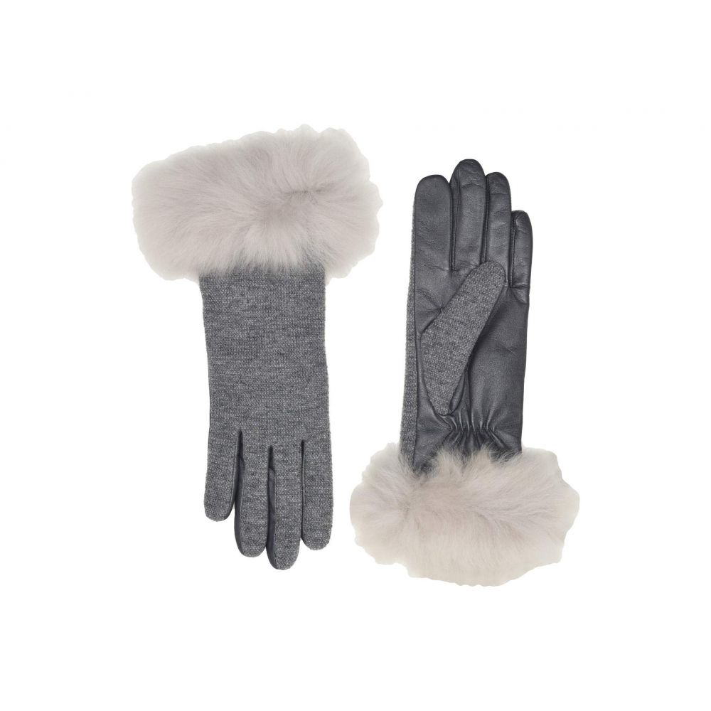 アグ UGG レディース 手袋・グローブ【Italian Wool Blend Tech Gloves with Long Pile Sheepskin Trim】Light Grey