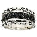 ジョン ハーディー John Hardy レディース ジュエリー・アクセサリー 指輪・リング【Classic Chain Ring with Black Sapphire and Black Spinel】Silver