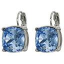 ケネスジェイレーン Kenneth Jay Lane レディース ジュエリー・アクセサリー イヤリング・ピアス【Silver Eurowire/Light Sapphire 12 mm Faceted Square Stone Earrings】Silver/Light Sapphire