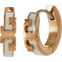 ショッピングトリーバーチ トリー バーチ Tory Burch レディース イヤリング・ピアス フープピアス ジュエリー・アクセサリー【Kira Stackable Huggie Hoop Earrings】Tory Gold/New Ivory