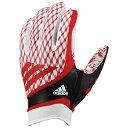 美式足球 - アディダス メンズ アメリカンフットボール グローブ【adidas adiFast Strapless Receiver Gloves】White/Red