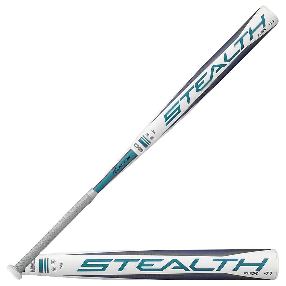 イーストン レディース 野球【Easton Stealth Flex Fastpitch Bat】White/Grey/Blue
