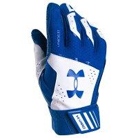 アンダーアーマー メンズ 野球 グローブ【Under Armour Yard Batting Gloves】Royal/White/Royalの画像