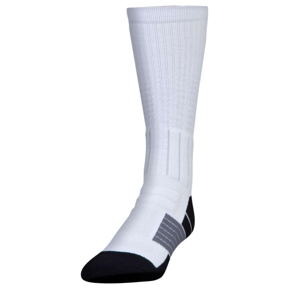 アンダーアーマー ユニセックス アメリカンフットボール【Unrivaled Crew Socks】White