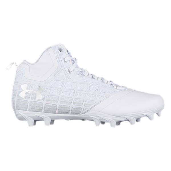 アンダーアーマー メンズ ラクロス シューズ・靴【Banshee Mid MC】White/White