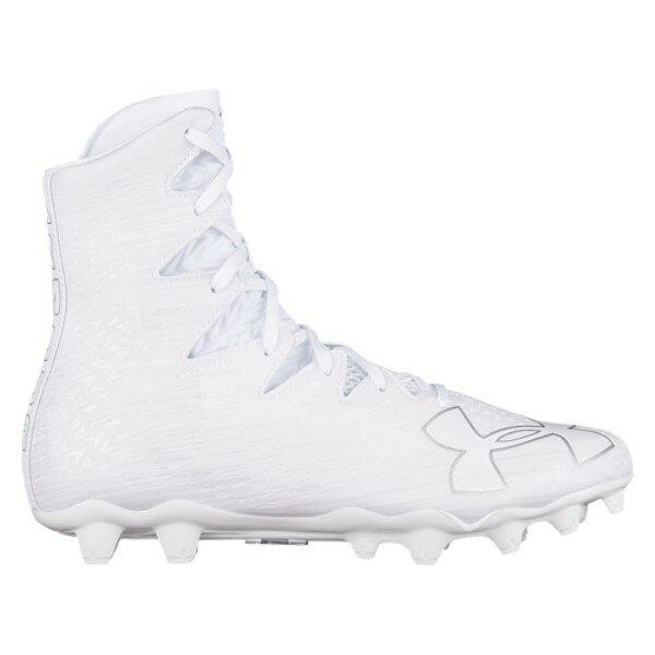 アンダーアーマー メンズ ラクロス シューズ・靴【Lacrosse Highlight MC】White/White