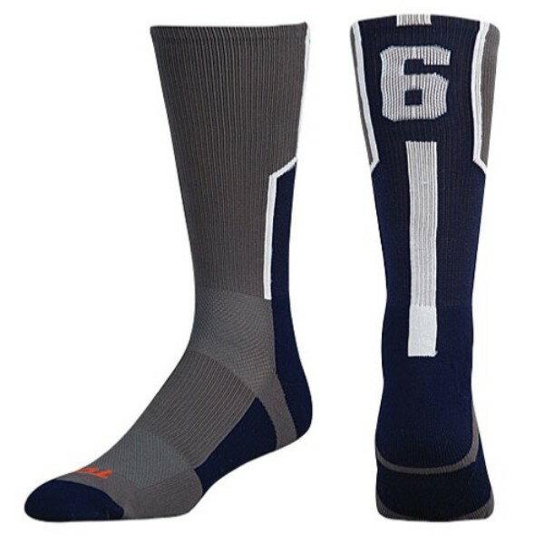 ツウィンシティ Twin City メンズ アメリカンフットボール【Player ID Custom Number Crew Socks】Graphite/Navy/White