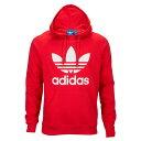 アディダス adidas Originals メンズ トップス パーカー【Trefoil Hoodie】Vivid Red/White