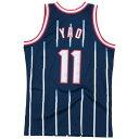 ミッチェル&ネス Mitchell & Ness メンズ バスケットボール トップス【NBA Swingman Jersey】NBA Houston Rockets Yao Ming Navy 1996 to 1997