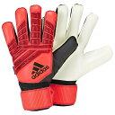 アディダス adidas ユニセックス サッカー グローブ【Predator Fingersave Goalie Gloves】Active Red/Black/Solar Red