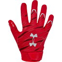 アンダーアーマー Under Armour メンズ アメリカンフットボール レシーバーグローブ グローブ【Spotlight NFL Receiver Gloves】Red/Metallic Silver