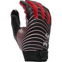 アンダーアーマー Under Armour メンズ アメリカンフットボール レシーバーグローブ グローブ【Spotlight LE NFL Receiver Gloves】Black/Metallic Silver