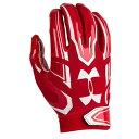 アンダーアーマー メンズ アメフト グローブ 手袋【Under Armour F5 Football Gloves】Red/White