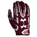 アンダーアーマー メンズ アメフト グローブ 手袋【Under Armour F5 Football Gloves】Maroon/White
