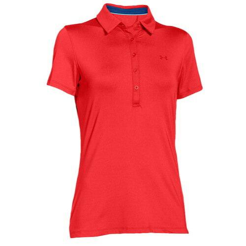 アンダーアーマー レディース ゴルフ ウェア ポロシャツ【Under Armour Zinger Golf Polo】Rocket Red/Cobalt アンダーアーマー レディース ゴルフ ウェア 【サイズ交換無料】