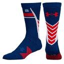 アンダーアーマー メンズ アメフト ソックス【Under Armour Country Pride Undeniable Crew Socks】Red/Whit...