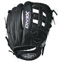 ルイスビルスラッガー レディース ソフトボール グローブ【Louisville Slugger Xeno Dual Post Web Fastpitch Glove】Black【10P03Dec16】