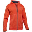 アンダーアーマー メンズ トレーニング ウェア パーカー【Under Armour Storm Armour Fleece Icon F/Z Hoodie】Dark Orange/Heron