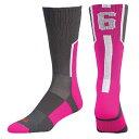 美式足球 - ツウィンシティ メンズ アメフト ソックス ソックス【Twin City Player ID Custom Number Crew Socks】Graphite/Hot Pink/White