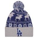 ニューエラ メンズ 帽子 ニット【New Era MLB Winterland Cuff Pom Knit】Multi