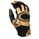 カッターズ メンズ アメフト グローブ【Cutters Rev Pro 2.0 Receiver Gloves】Black/Metallic Gold